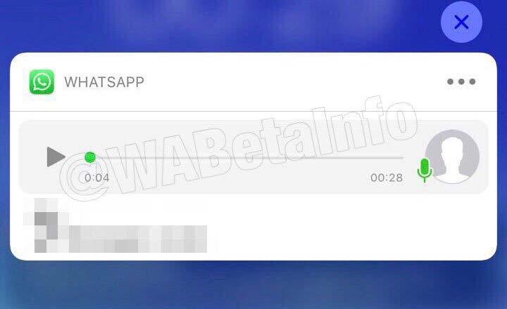 Mensaje WhatsApp notificaciones