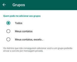 Bloquear Grupos WhatsApp
