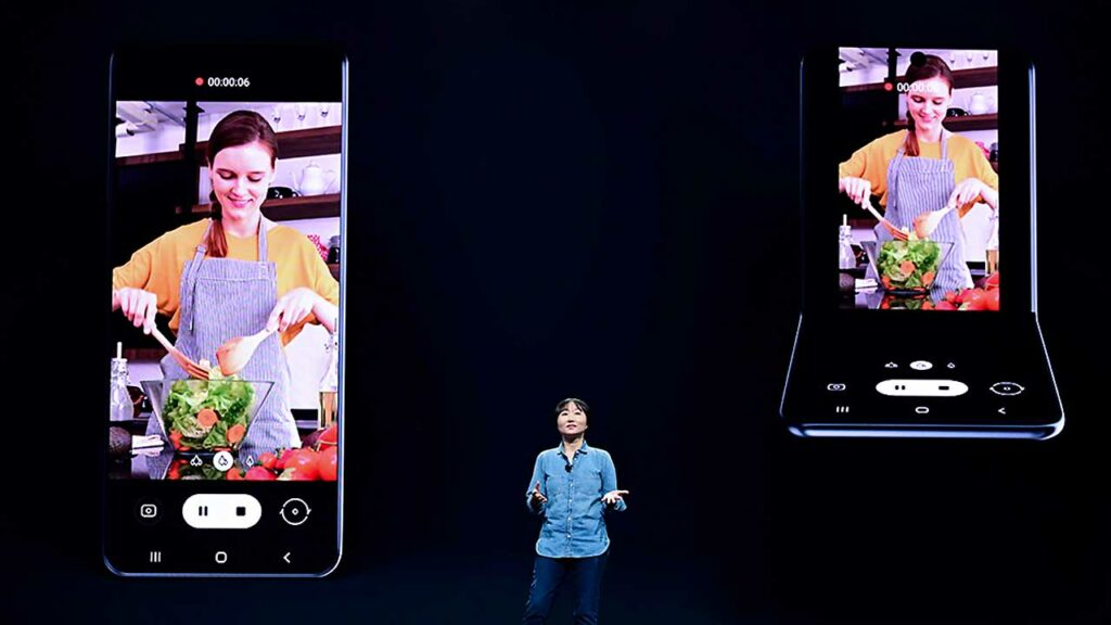 Celular plegable Samsung