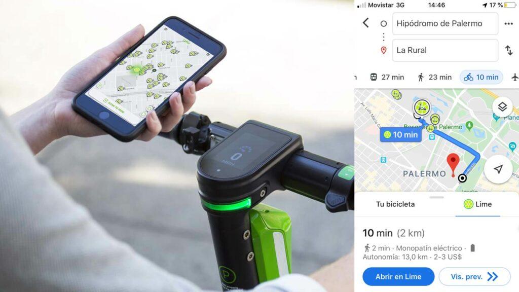 Lime Google Maps