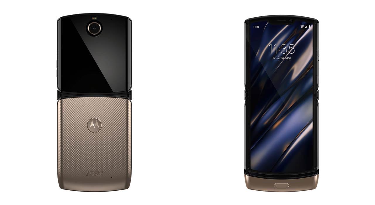 Motorola Razr dorado