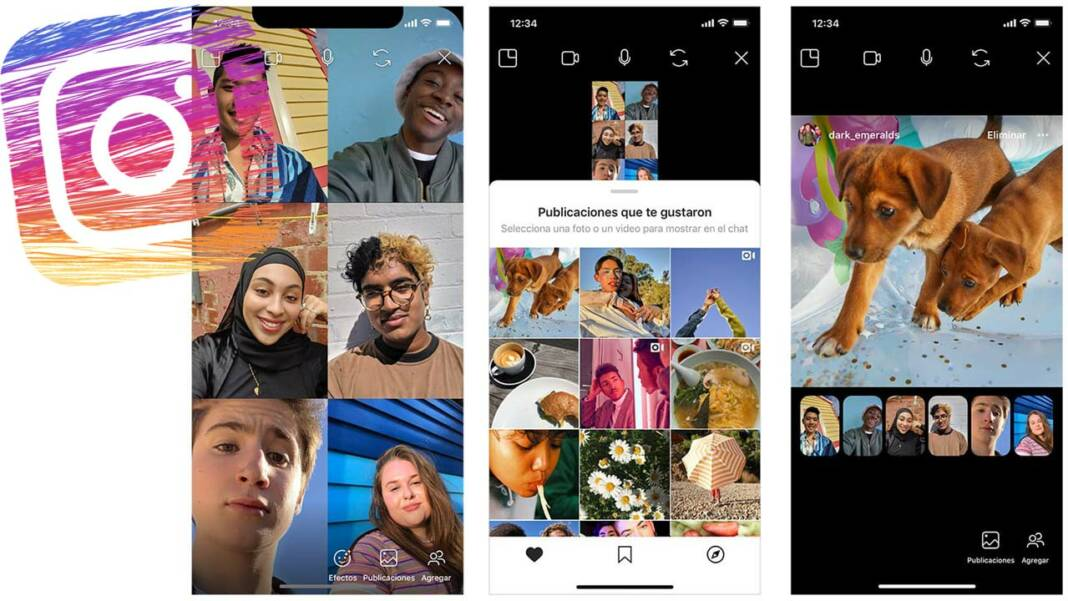 Videollamada grupal instagram