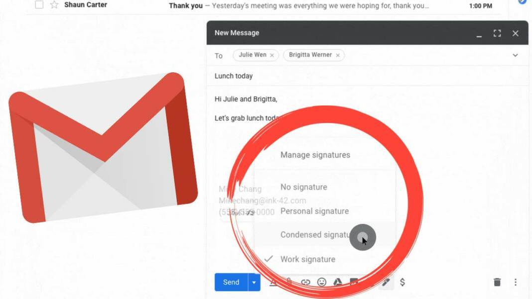 Agregar múltiples firmas Gmail