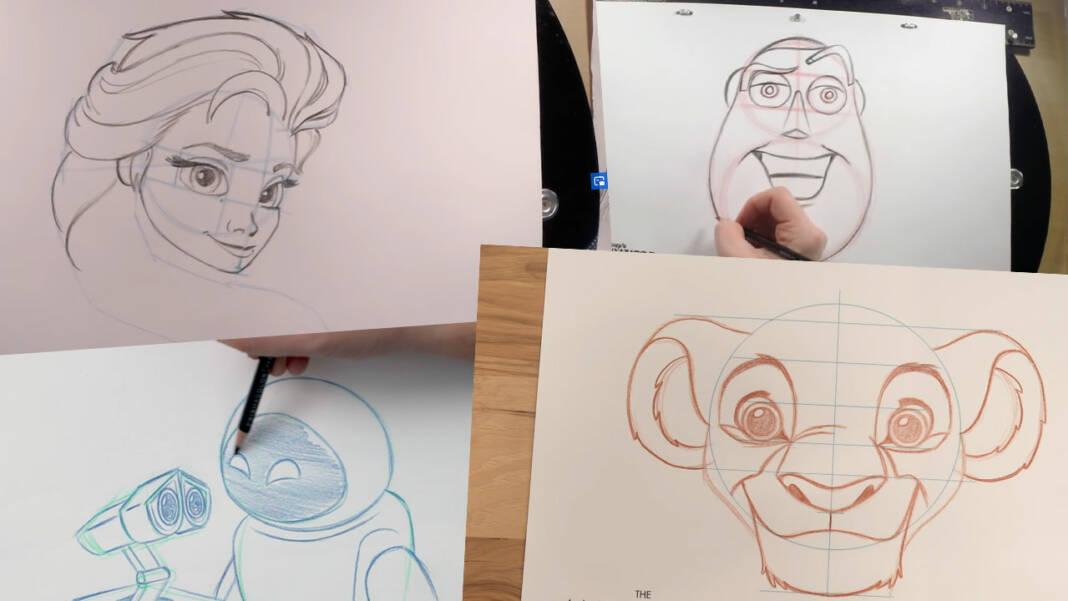 Tutoriales dibujar personajes Disney