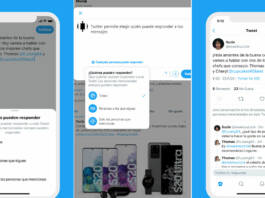 Twitter permite elegir quién puede responder a tus mensajes