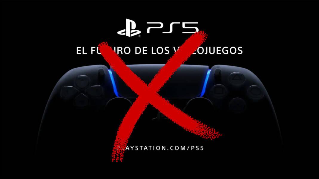 PS5 suspendido