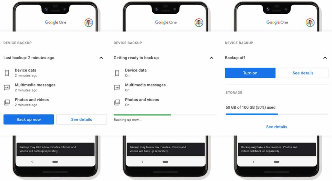 Google One copia de seguridad