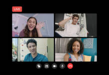 Messenger Rooms Live