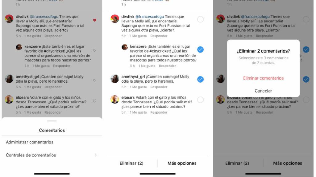 Instagram interacciones no deseadas
