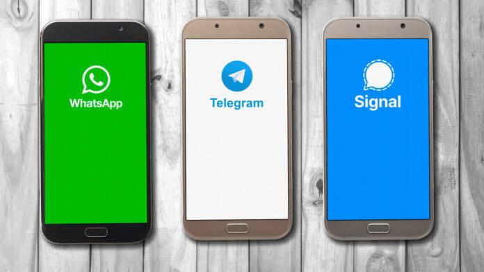 Diferencias WhatsApp Telegram Signal